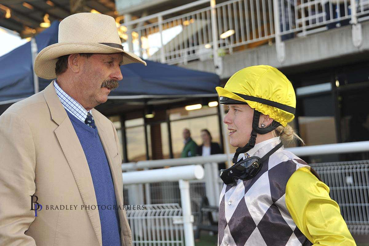 Image courtesy Bradley Photographers - Sam with former prominent trainer Greg Bennett.
