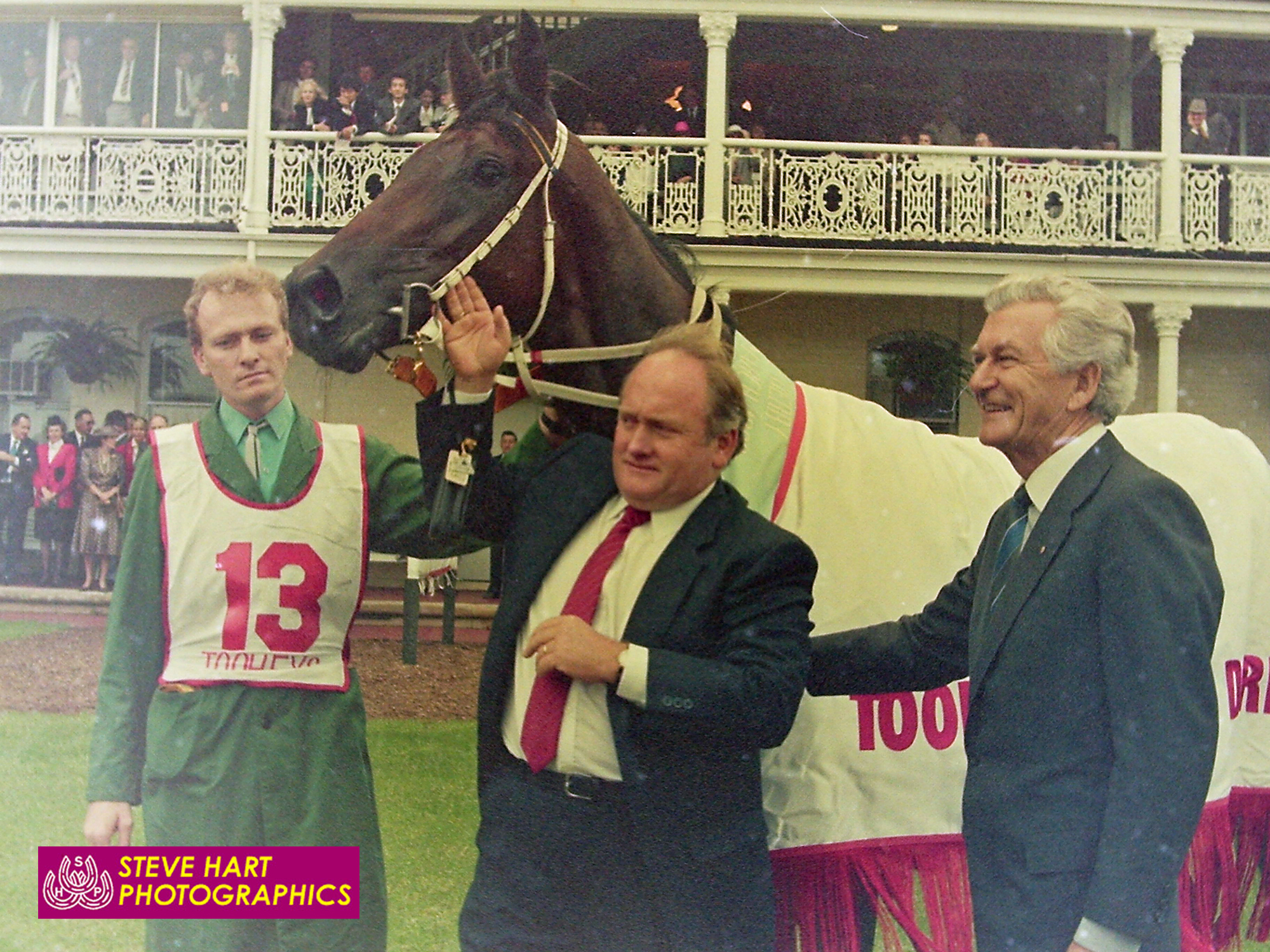 Image courtesy Steve Hart Photographics - Clarry after the Derby in the company of a Prime Minister.