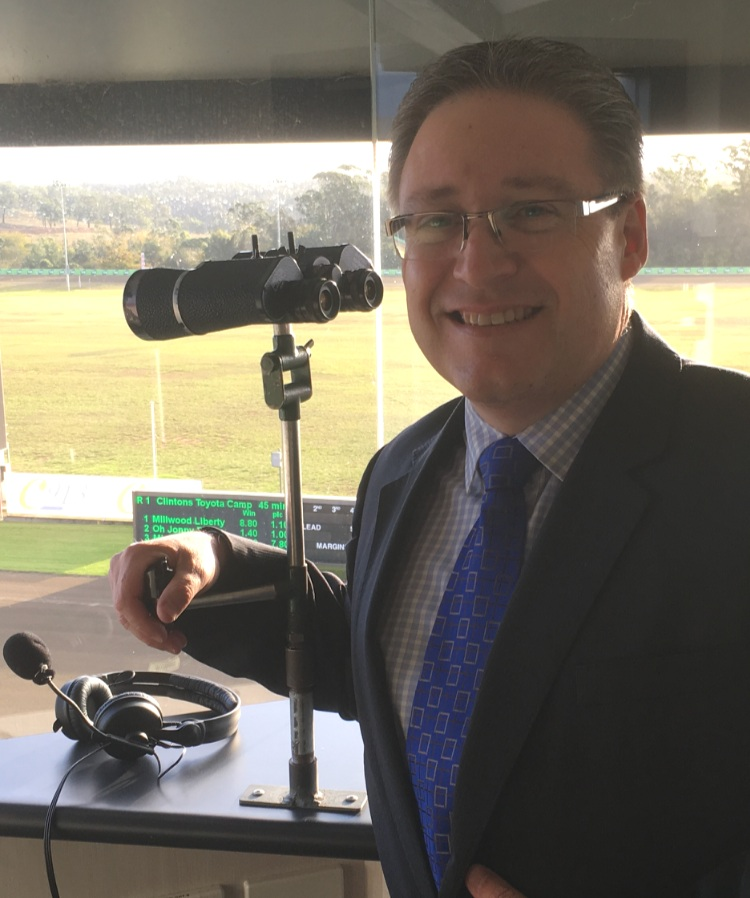 Fred Hastings spends many hours in the broadcast box at Menangle.