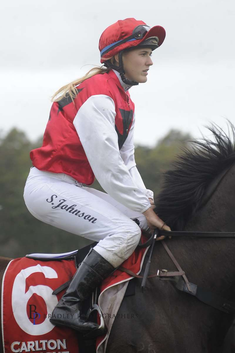 Image courtesy Bradley Photos - One of Samara Johnson's many wins as an amateur jockey.