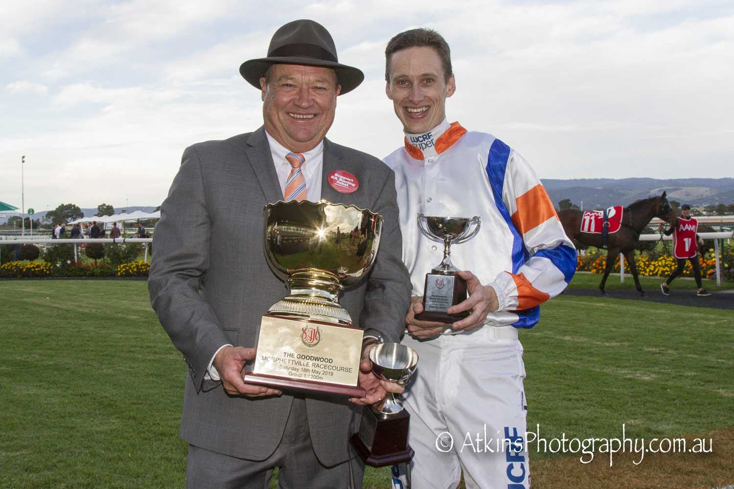 Image courtesy AtkinsPhotography.com.au - It was a maiden Goodwood win for both Tony McEvoy and Todd Pannell. It was also Todd's first Group 1 win.