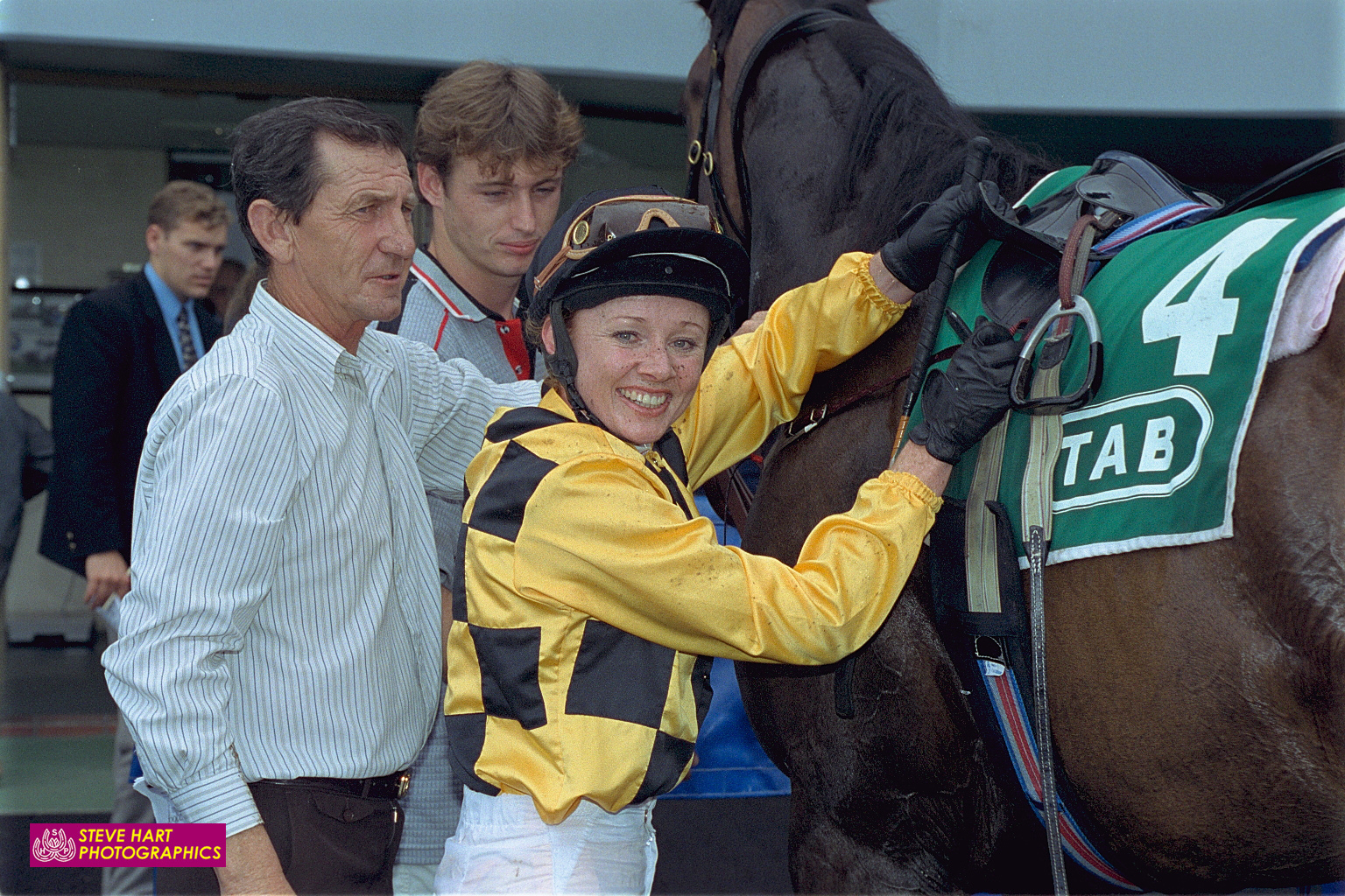 Image courtesy Steve Hart Photographics - Paul Sutherland with Bernadette Cooper at Randwick.