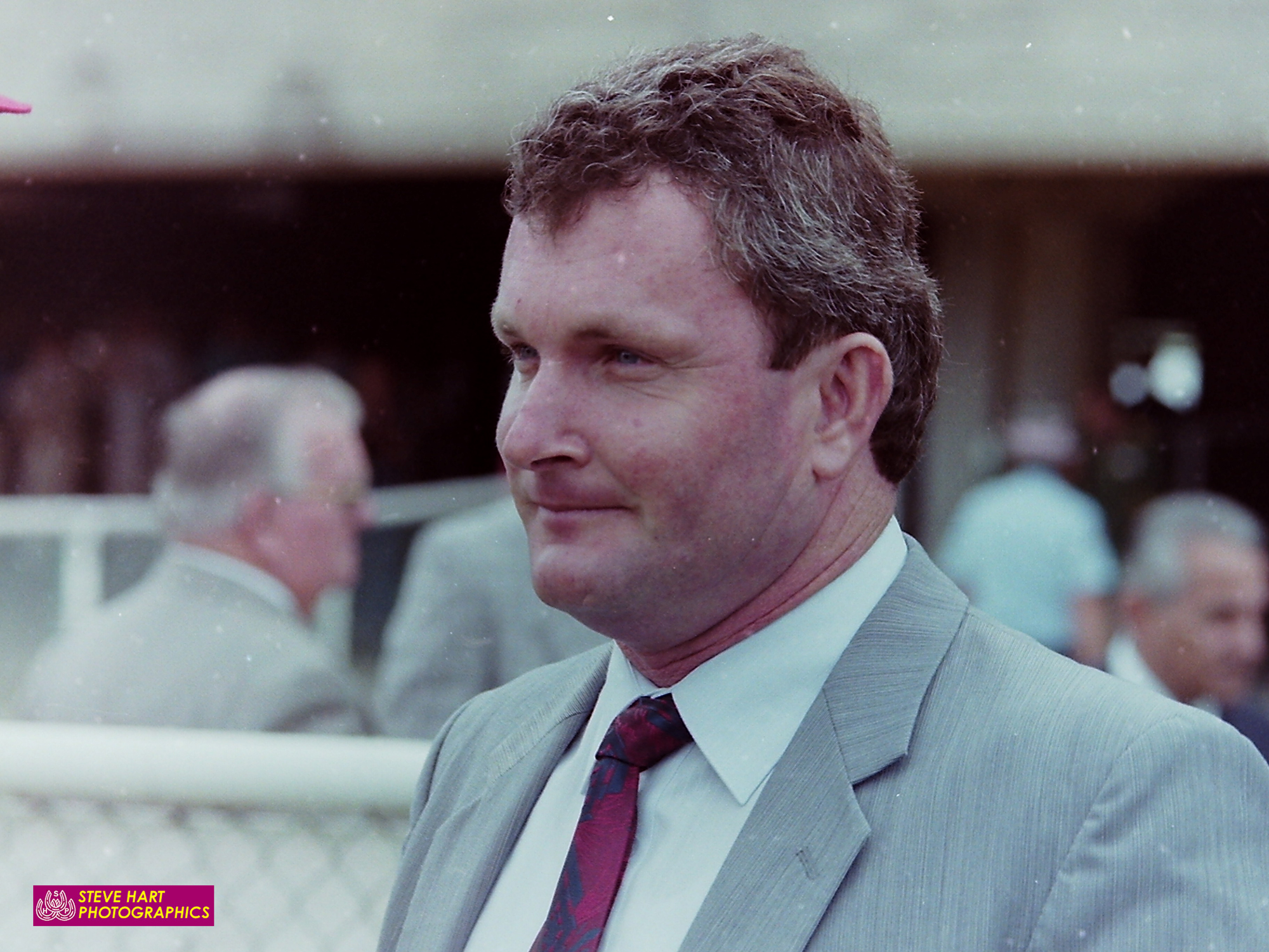 Image courtesy Steve Hart Photographics - Barry Lockwood during his training stint at Rosehill, 1993.
