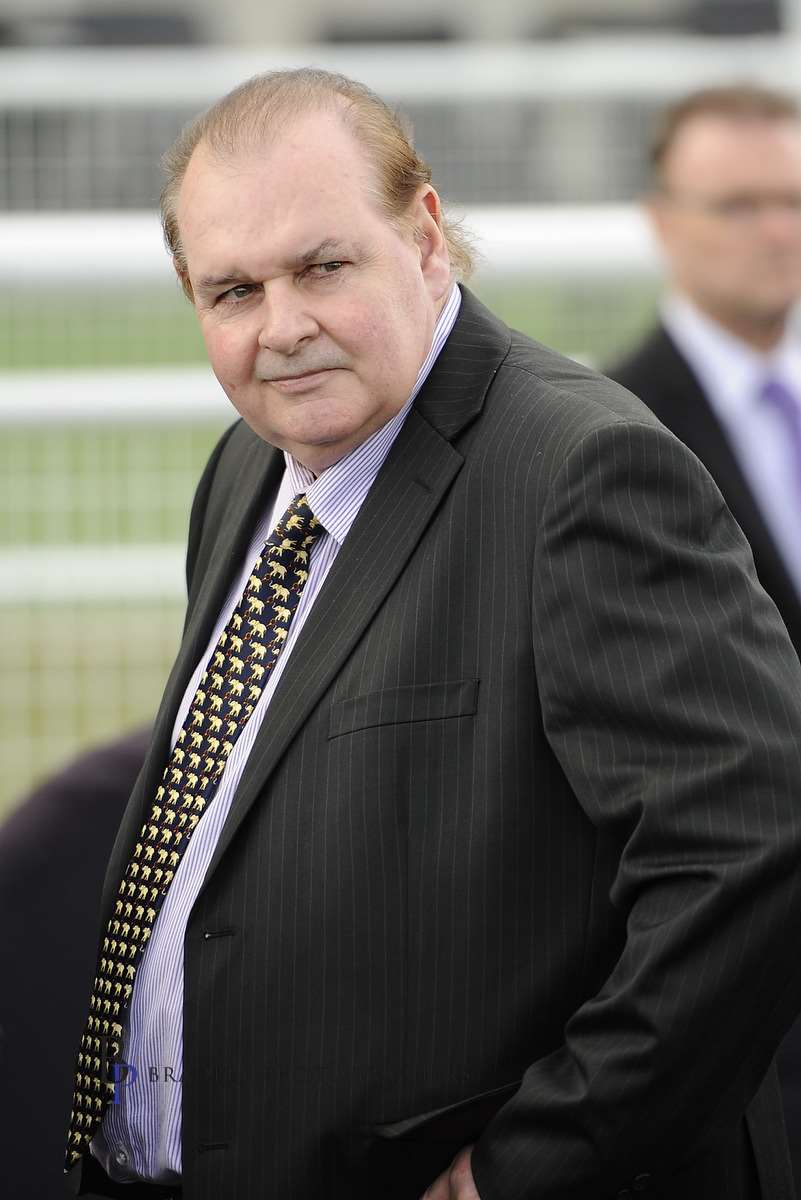 Image courtesy Bradley Photographers - Allan Denham is a picture of concentration at the races.