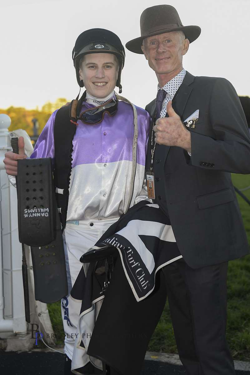 Image courtesy Bradley Photographers - Danny Williams with Sam Weatherley after a Randwick win by She Knows.