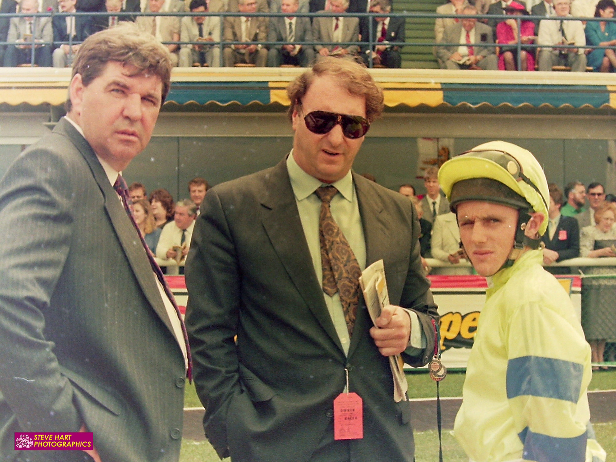 Image courtesy Steve Hart Photographics - Ross with long time owner and great friend, Nick Columb and Shane Dye.
