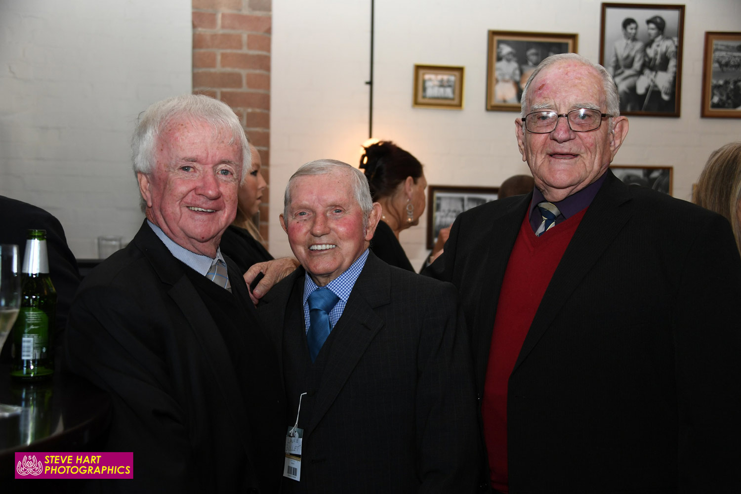 Kevin Langby with Laurie Billett (1965 GoldenSlipper on Reisling) and Brian Killian former top apprentice and long time member of the AJC Stewards panel.
