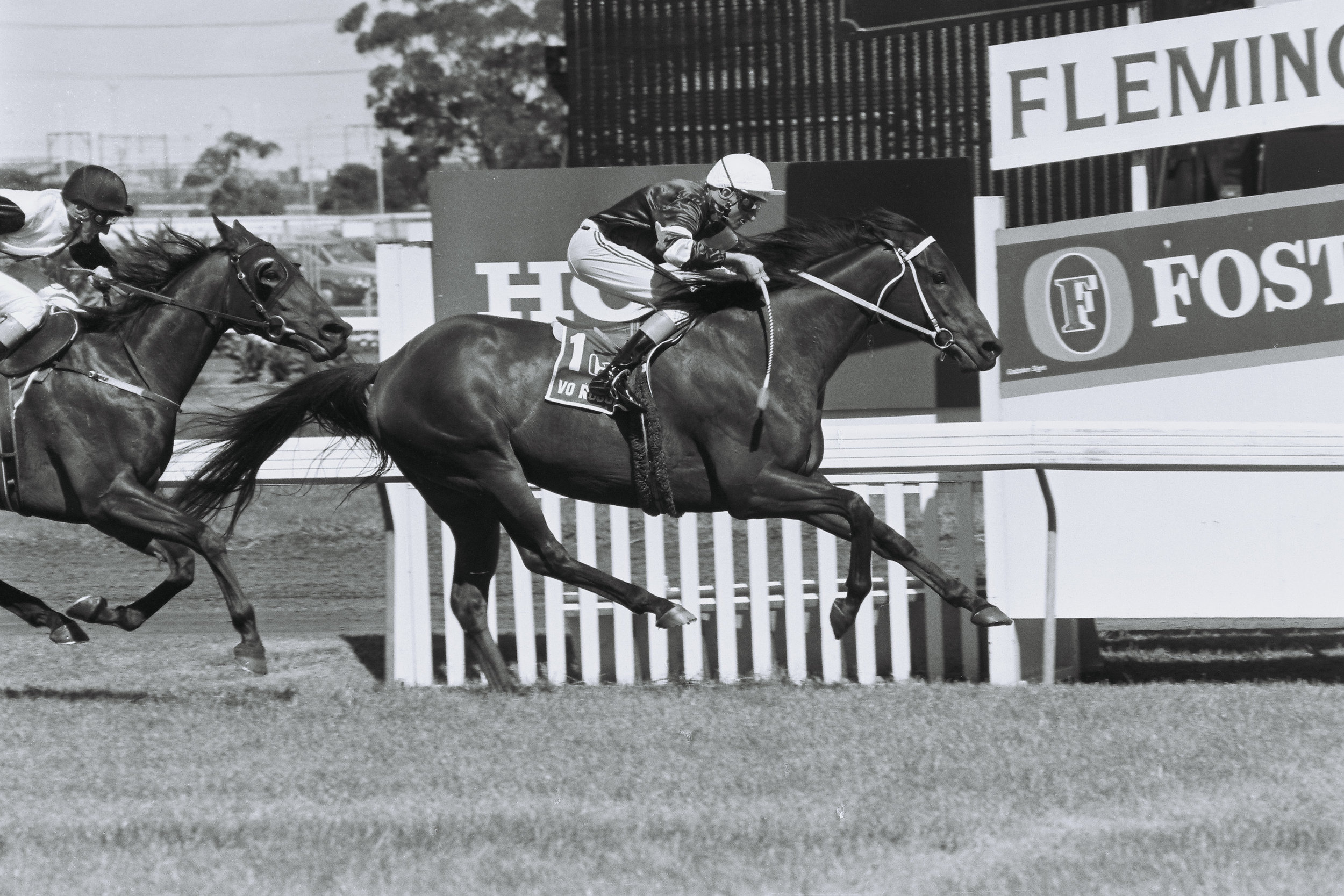 Image courtesy Colin Bull Photos - Vo wins his second Australian Cup 1990. Not even the great Better Loosen Up could get close to him on the day.