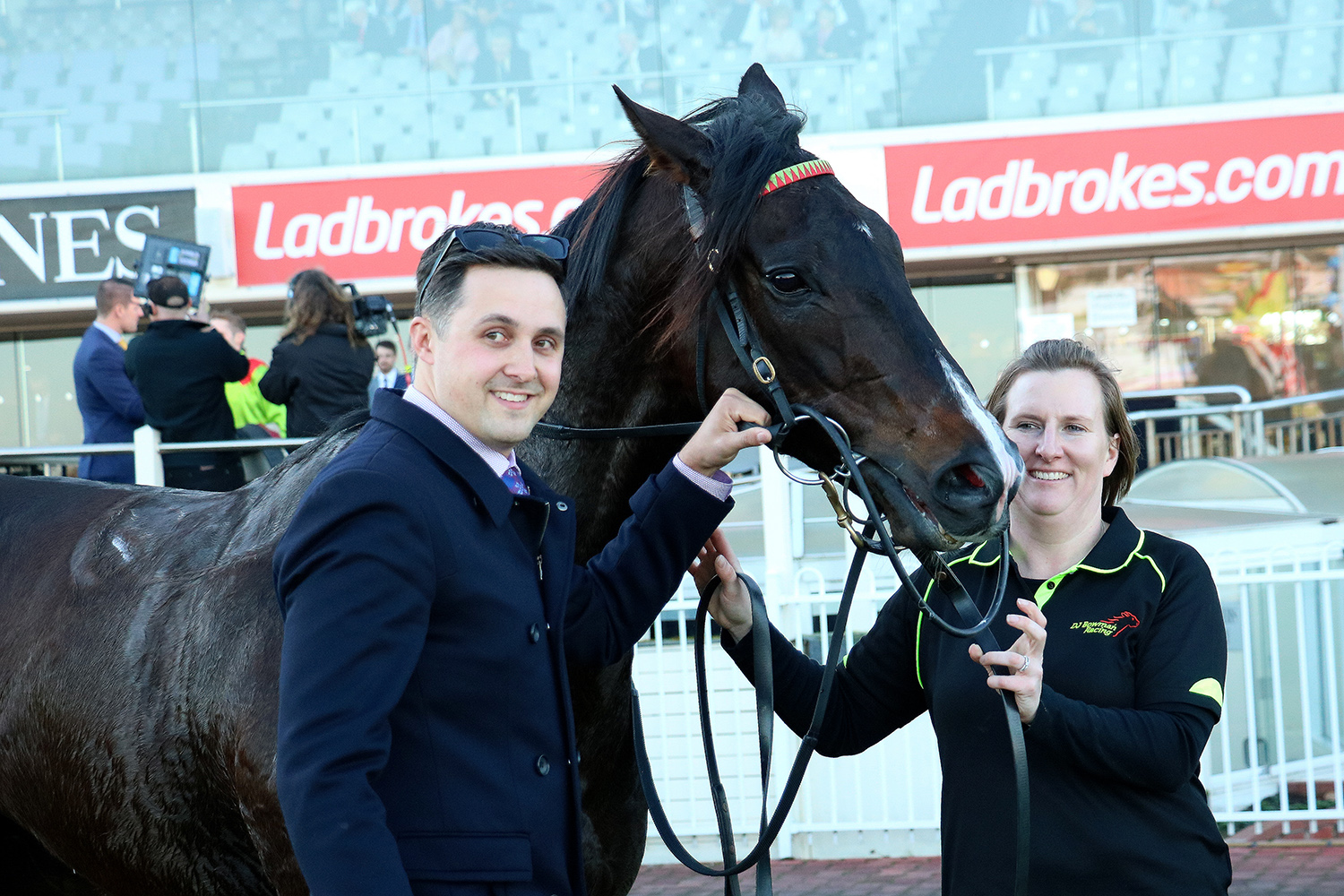 Image Courtesy of Darryl Sherer - Daniel and Denita with their favourite horse at Caulfield.