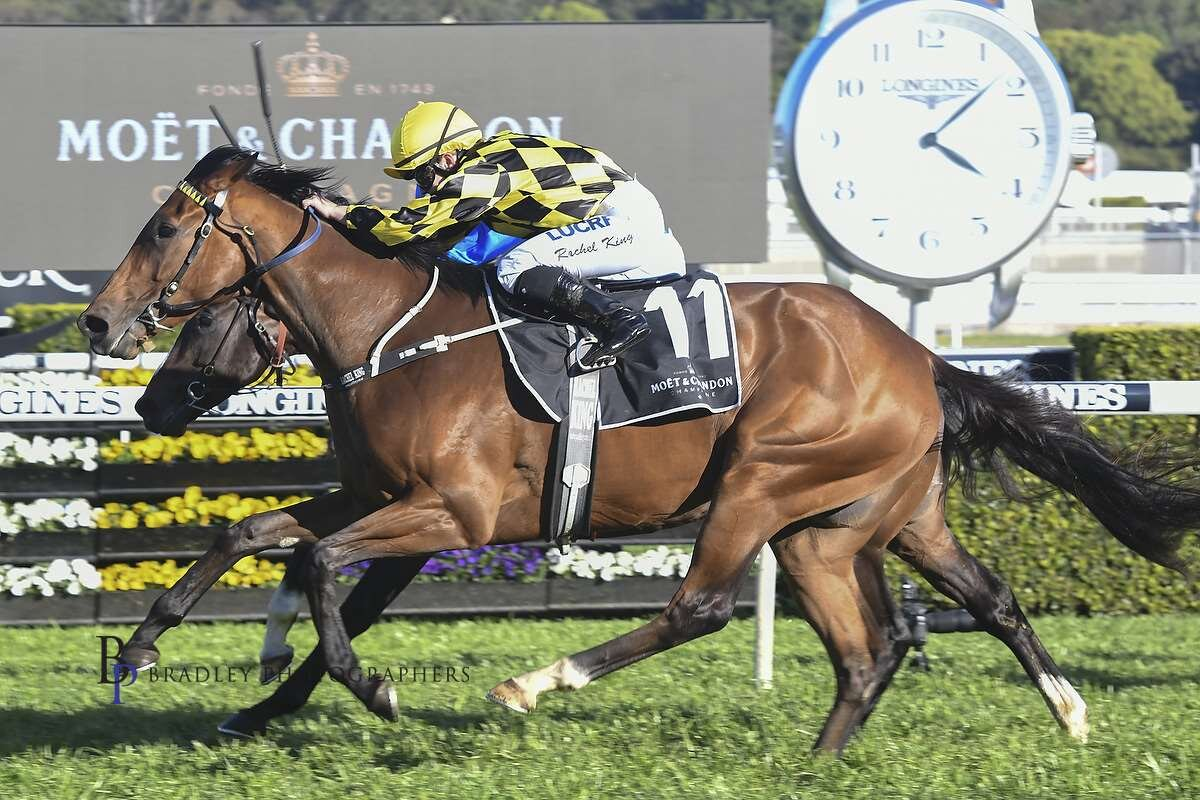Image courtesy Bradley Photos - Rachel's first Group 1 - The 2018 Spring Champion Stakes on Maid of Heaven.