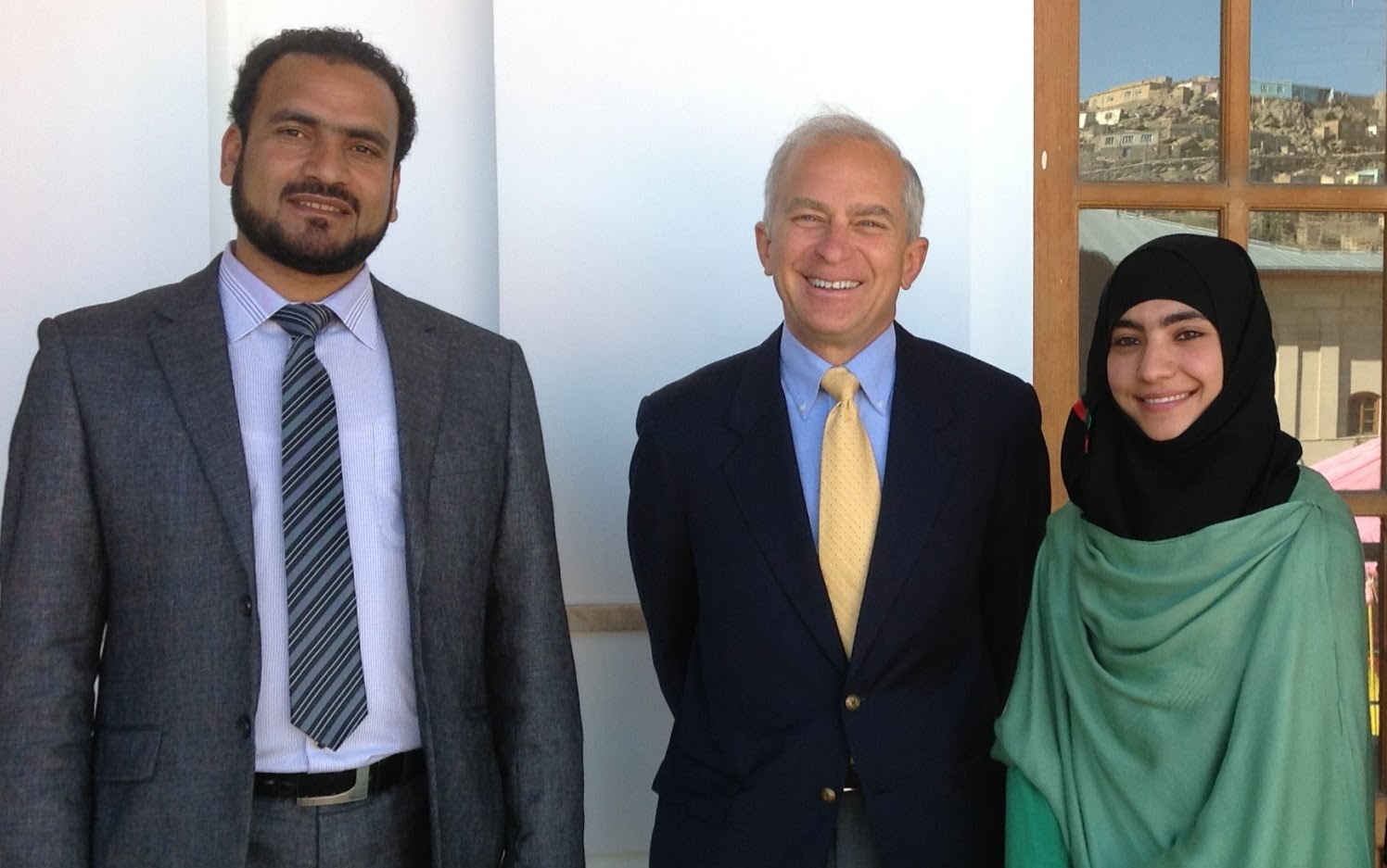 In Afghanistan with staff from NDI
