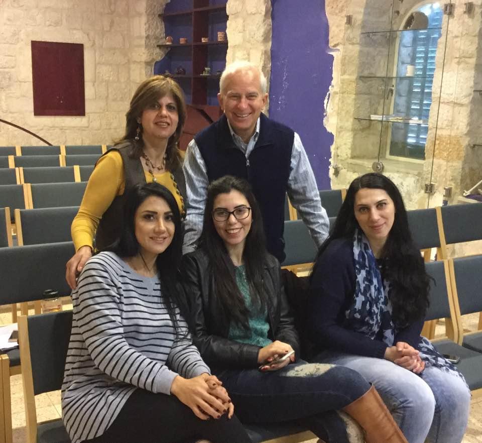 Palestinian workshop participants in Bethlehem