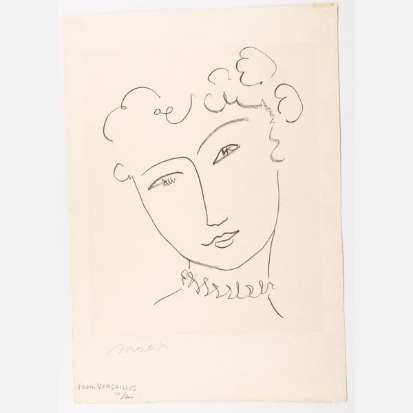Pour Versailles  Henri Matisse Sold for $8,000
