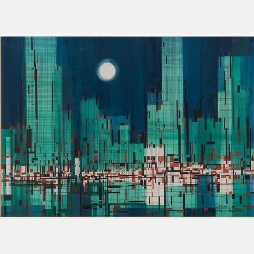 Winter Night  Viktor Schreckengost Sold for $4,500
