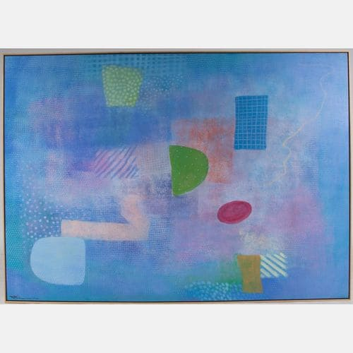 Blue Abstract  Robert Natkin Sold for $7,500