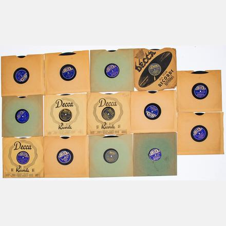 BING & BOB CROSBY, DECCA RECORDS, 78S   A Group of Fourteen Bing Crosby and Bob Crosby, Decca Records, 10 in. Shellac 78s, 20th Century,   Est. $80 - $120