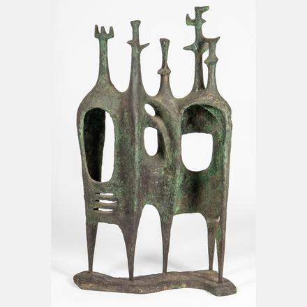 HELEN BELING, (AMERICAN, 1914-2001) - CRENELLATED AND ARCHED  Estimate: $4,000 - $6,000