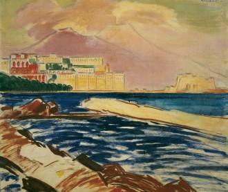 János Vaszary, Naples Harbour, Sold for $54,000
