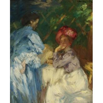 János Vaszary, Women in the Park, Sold for $65,000