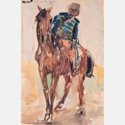 János Vaszary, Hussar, Estimate: $10,000 - $20,000.  View Lot >