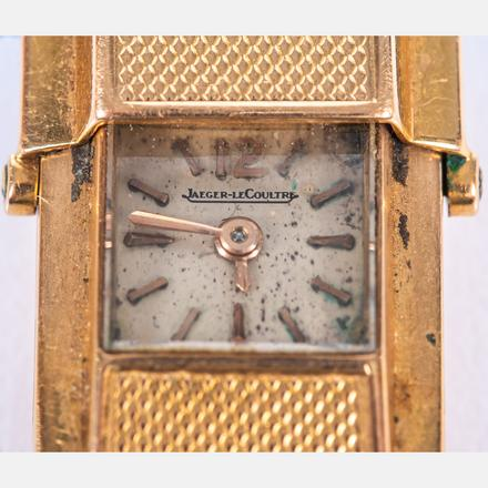 18K GOLD WRIST WATCH BY JAEGER-LECOULTRE.  Estimate:  $1,500 - $2,500.    View Lot >