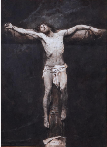 ANTON WIDLICZKA (WIDLICKA), (19TH CENTURY) - CRUCIFIXION OF JESUS.  Estimate: $800 - $1,200. Lot #1.  View Lot >