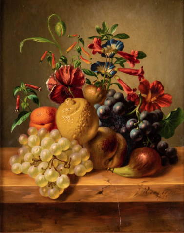 JOHANNES REEKERS, JUN, (NETHERLANDS, 1824-1895) - STILL LIFE.  Estimate: $1,500 - $2,500. Lot #115.  View Lot >