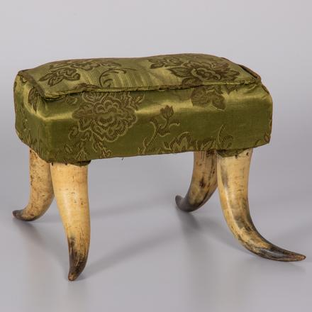 VICTORIAN HORN UPHOLSTERED FOOTSTOOL   Estimate: $300 - $500.  View lot >