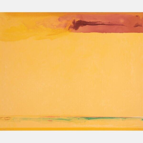 HELEN FRANKENTHALER, (AMERICAN, 1928-2011) - SOUTHERN EXPOSURE, 2005.   Estimate:  $7,000  -  $9,000 . Lot#23      View Lot >
