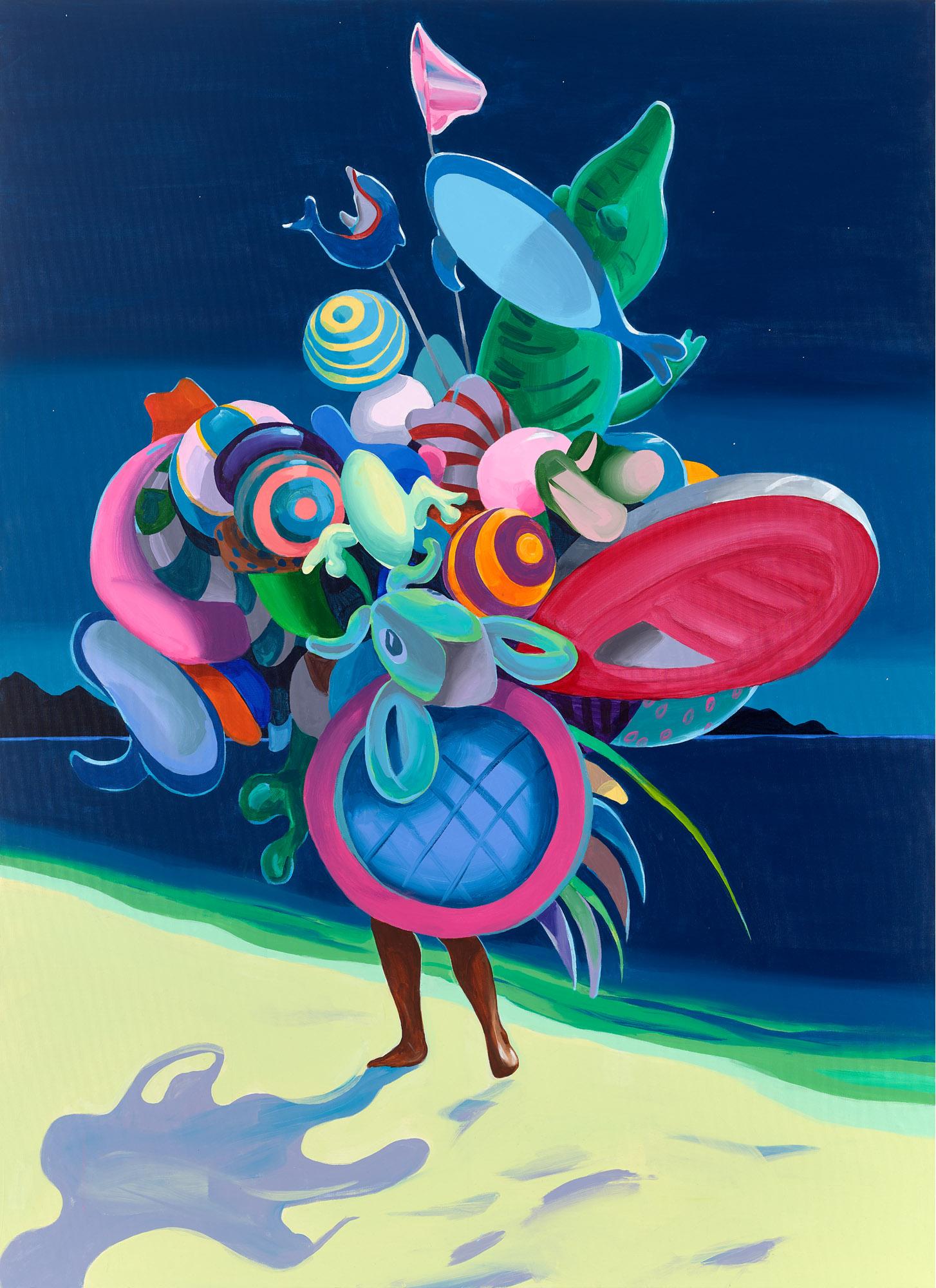 Christopher Winter,  Refuge Island , 2019, acrylic on canvas, 220 x160 cm