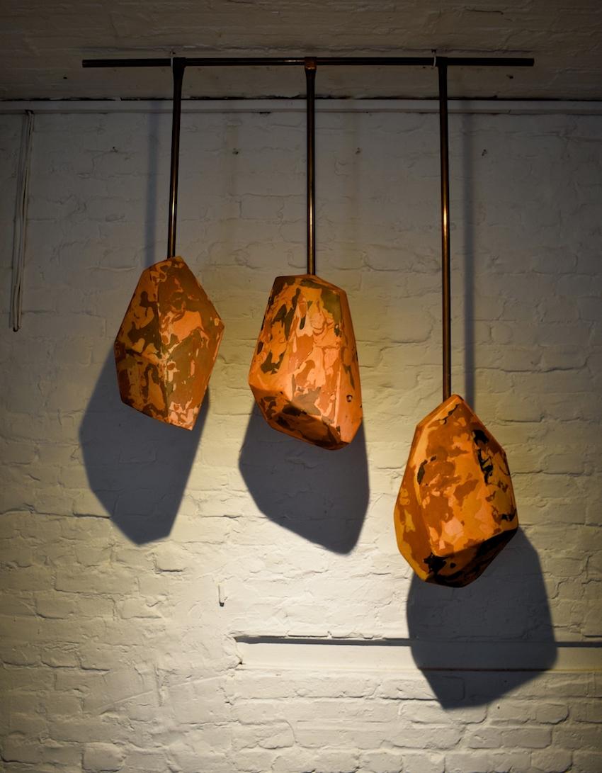 Gisela Kleinlein,  Untitled,  2012/19,  Plaster, copper pipe, 150 x 130 x 20 cm