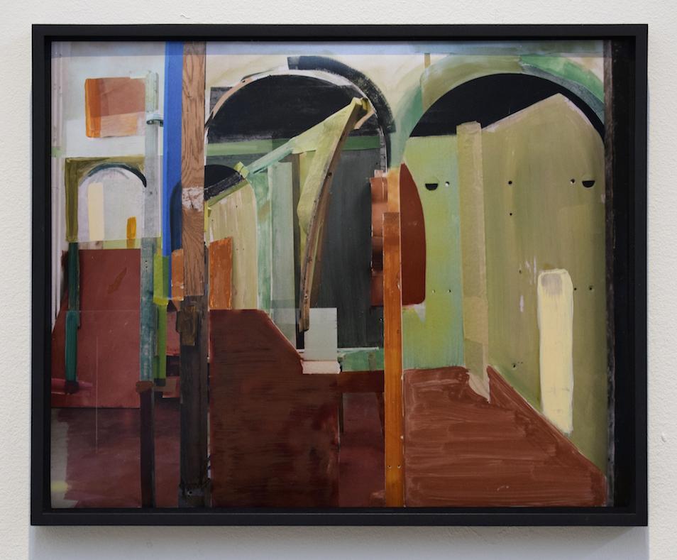 Heike Gallmeier  Vertigo , 2014, C-print, acrylic paint, 30 x 37 cm