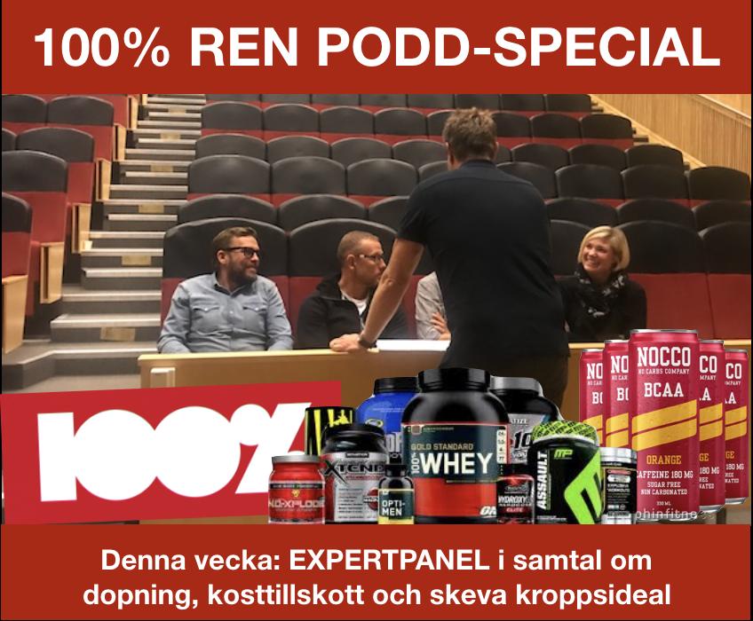 Är det riskfyllt att dricka Nocco - Är det riskfyllt att dricka Nocco eller ta proteinpulver? Vem söker sig till en dopningsmottagning?Kan vi påverka vår samtids kroppshets och skeva kroppsideal?Podden denna vecka är en panel med Åsa Säfström (Dopningsmottagningen), Daniel Alsarve (sakkunnig i jämställdhet), Erik Hellmén (sakkunnig nutrition) och trotjänaren Johan Öhman (expert dopnigsfrågor).