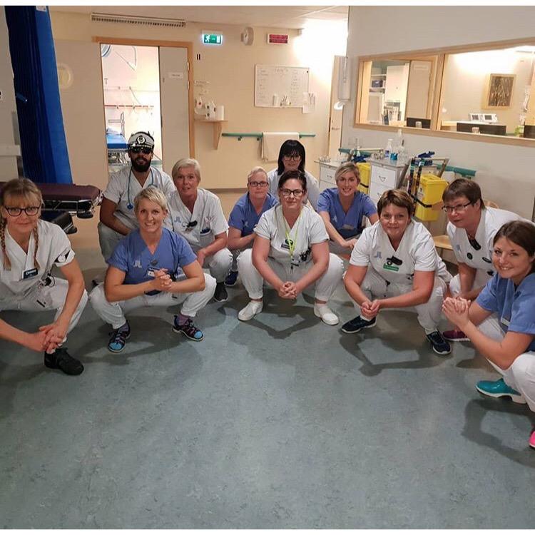 Följ akuten på Norrtälje sjukhus på Instagram @livetpaakuten