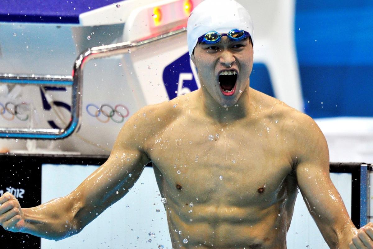 Kinesiske simstjärnan Sun Yang - en av sommarens mest omdiskuterade idrottsutövare..