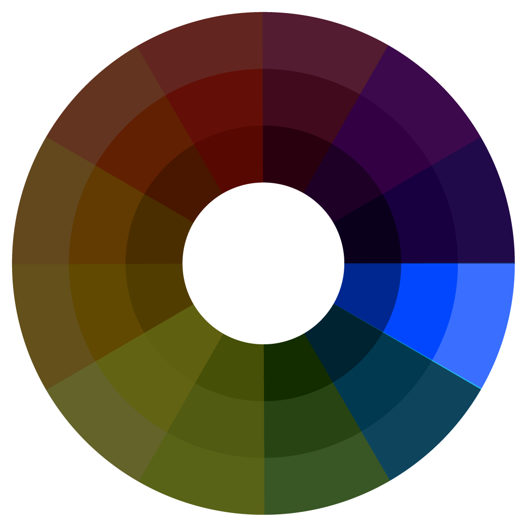 Color theory Wheel - analogous color palette