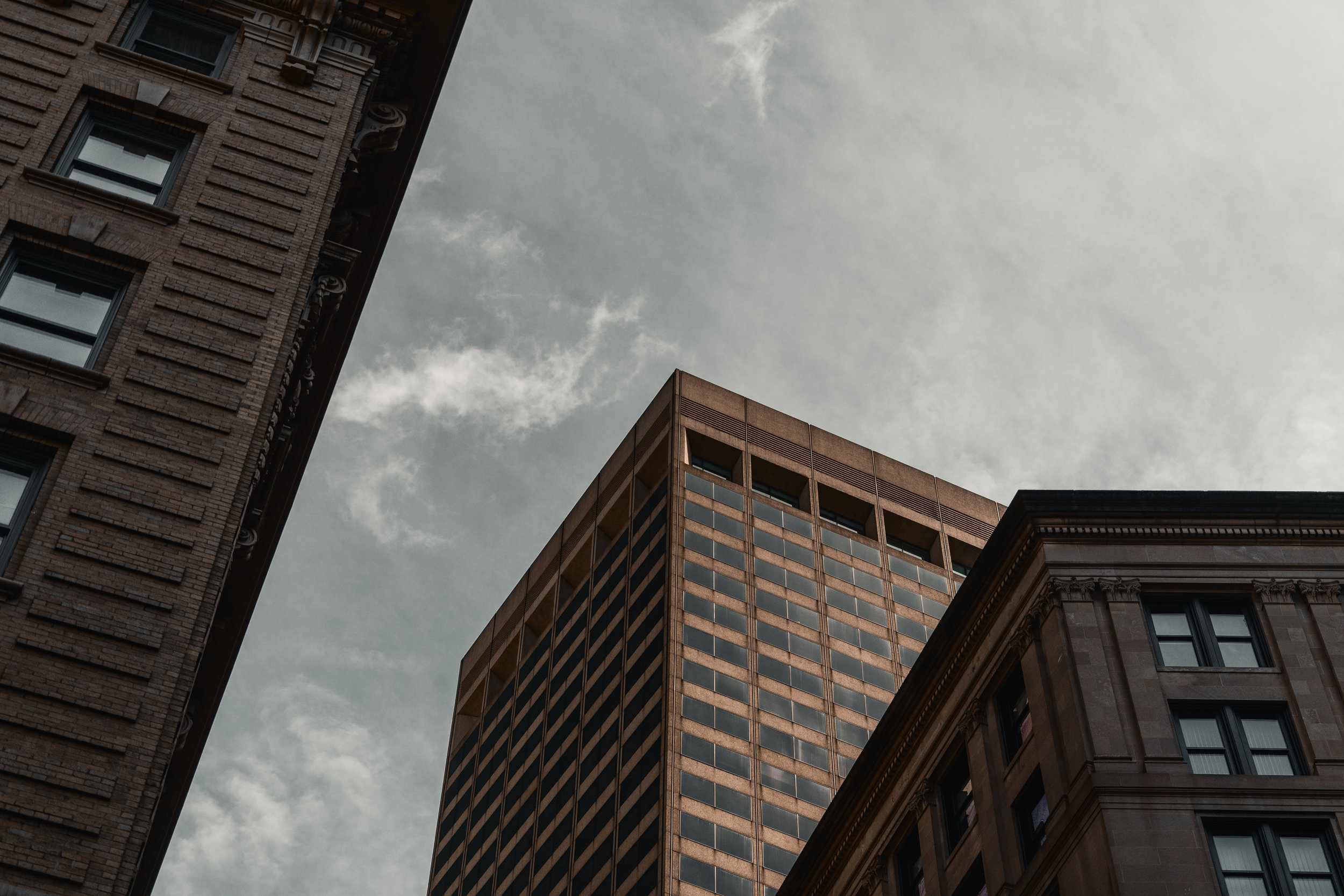 Boston city skyscapers, building, houses - massassuchets cityscape - Big city building and sky