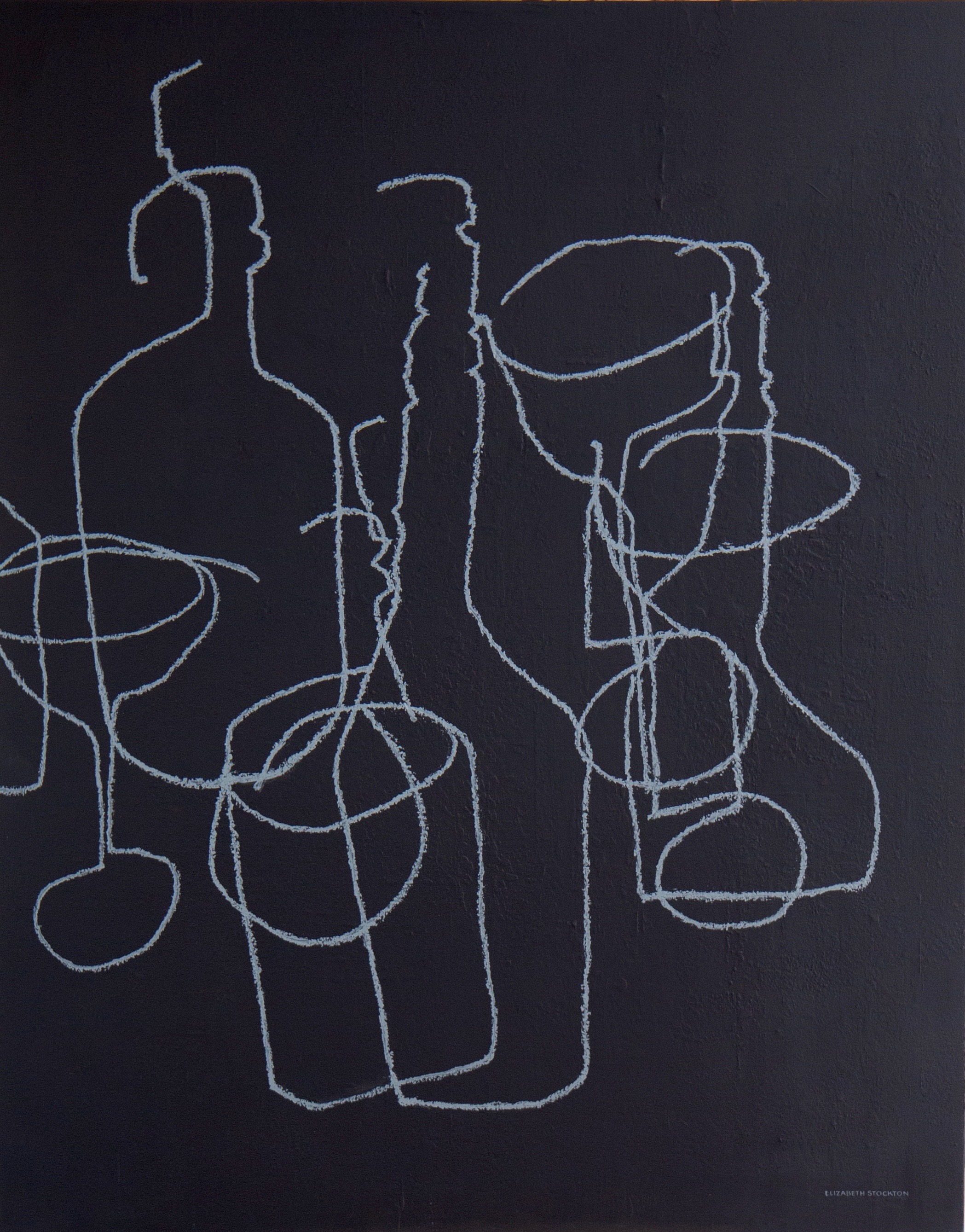 """""""Cocktails'' oil on canvas 48'' X 60''"""