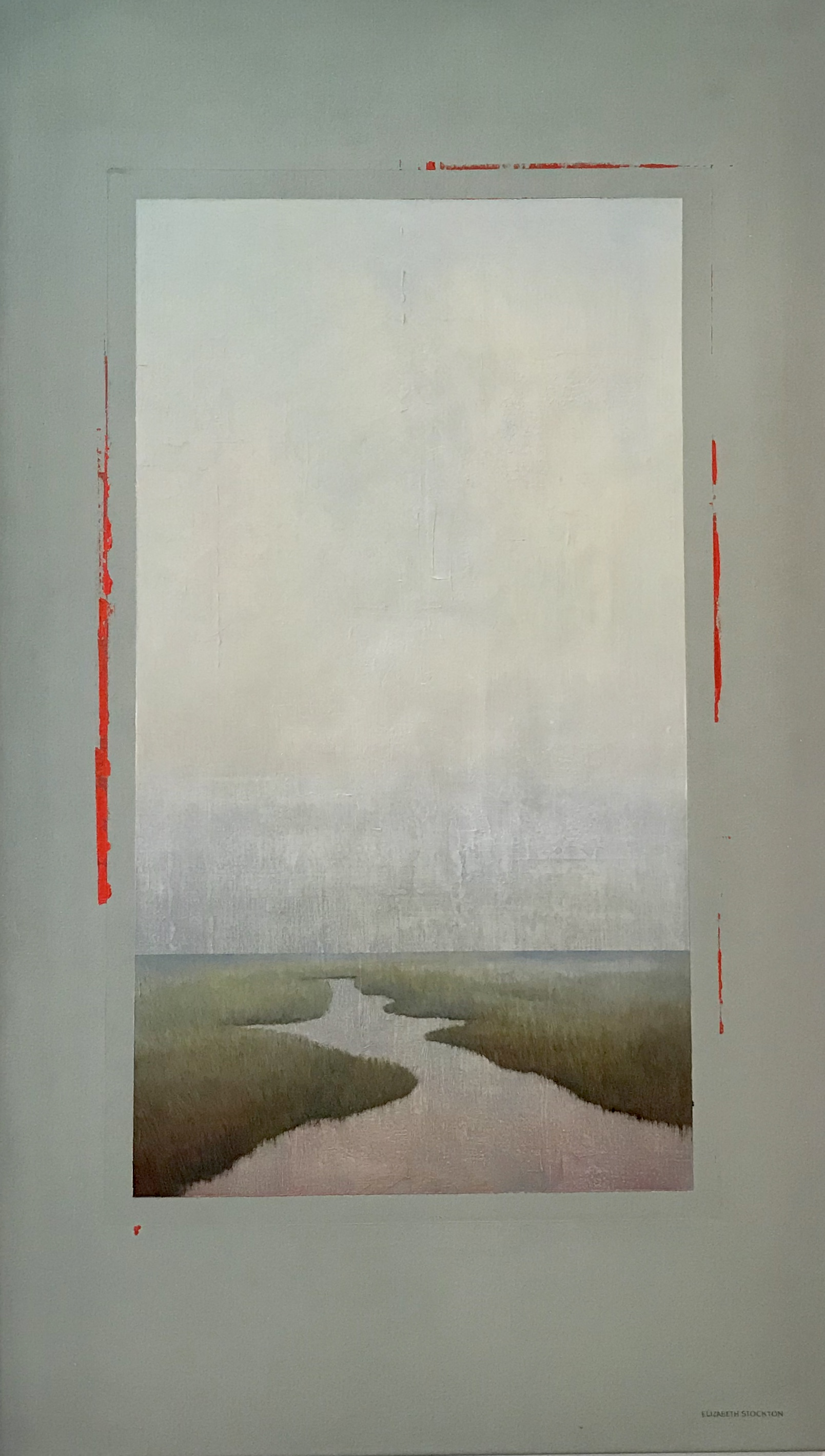 """""""Meander'' oil on canvas 27'' X 46.75''"""