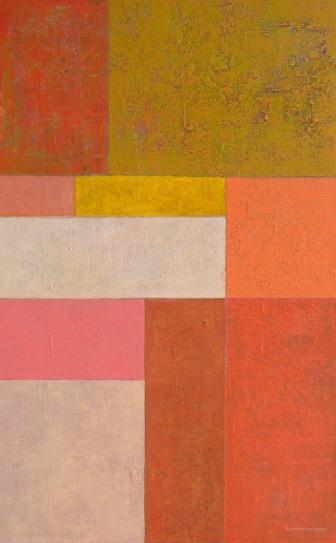 """""""Warm Grid'' oil on canvas 30'' X 48''"""