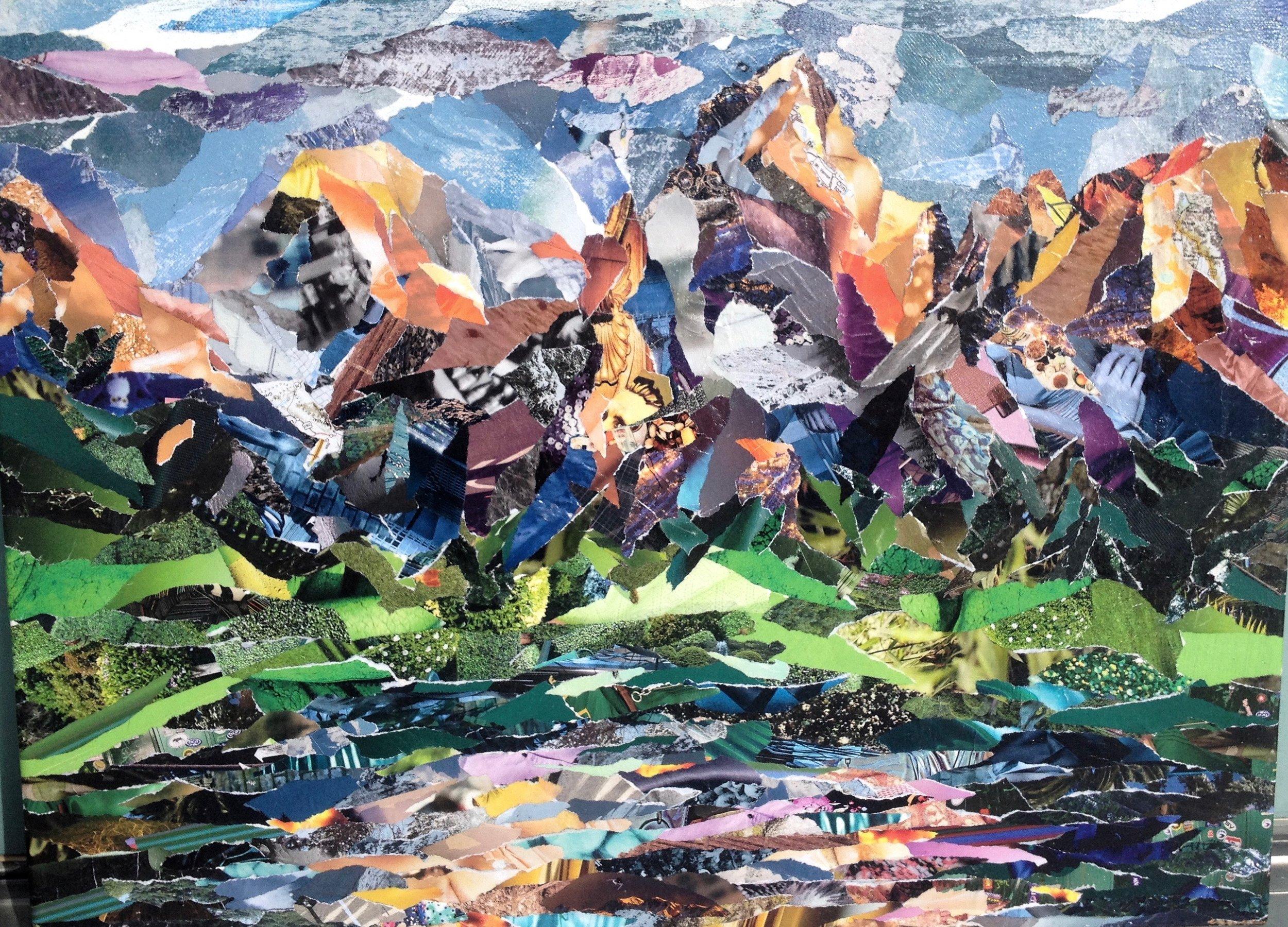"""'Secret Spot' Collage on Canvas 14"""" x 11"""""""
