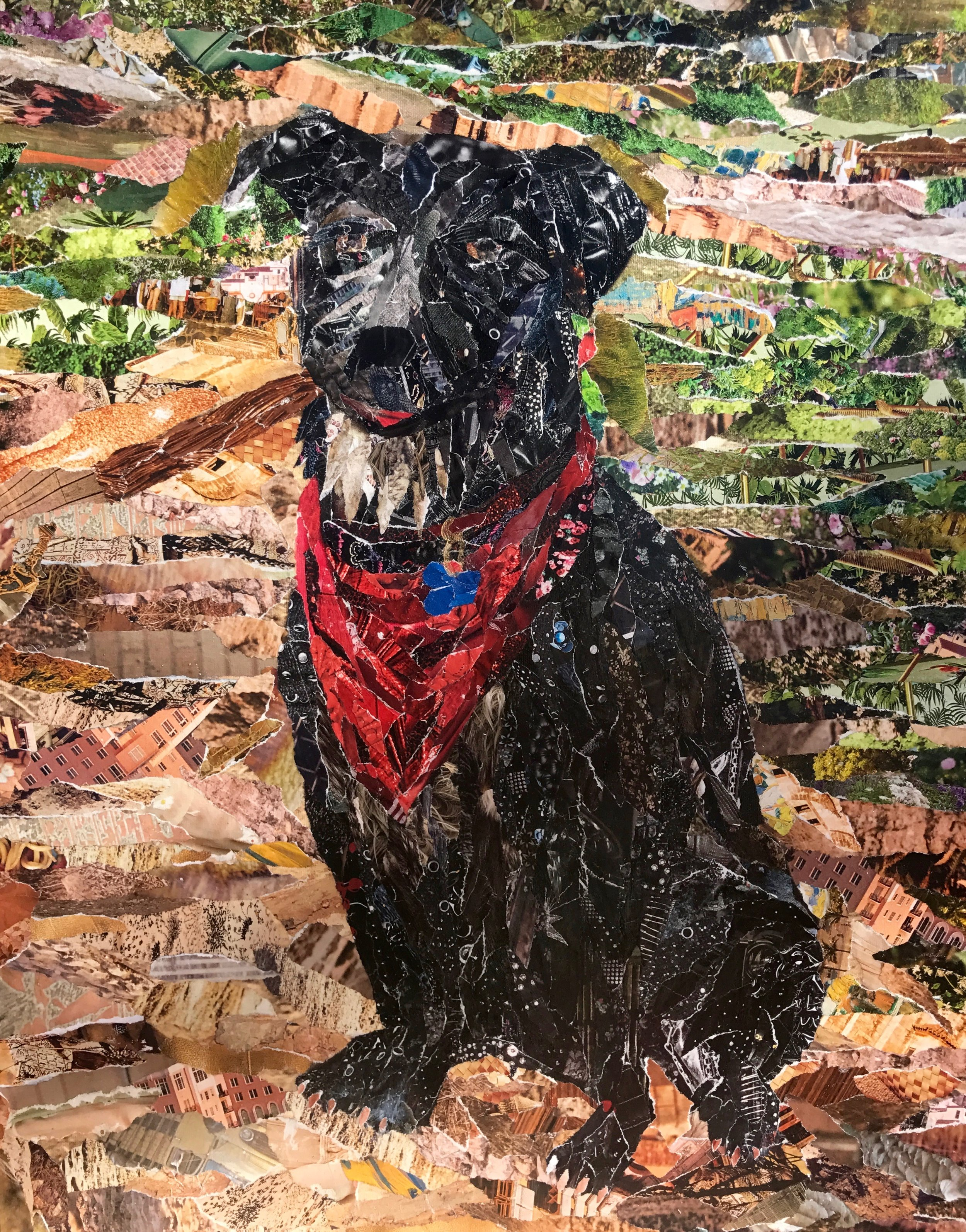 "'Custom Puppy' Collage on Canvas 24"" x 18"""