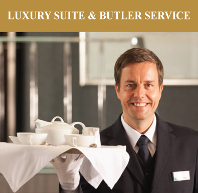 Every spacious suite is luxuriously appointed with queen size beds, Egyptian cotton sheets, down pillows and L'Occitane products--plus your own butler service.
