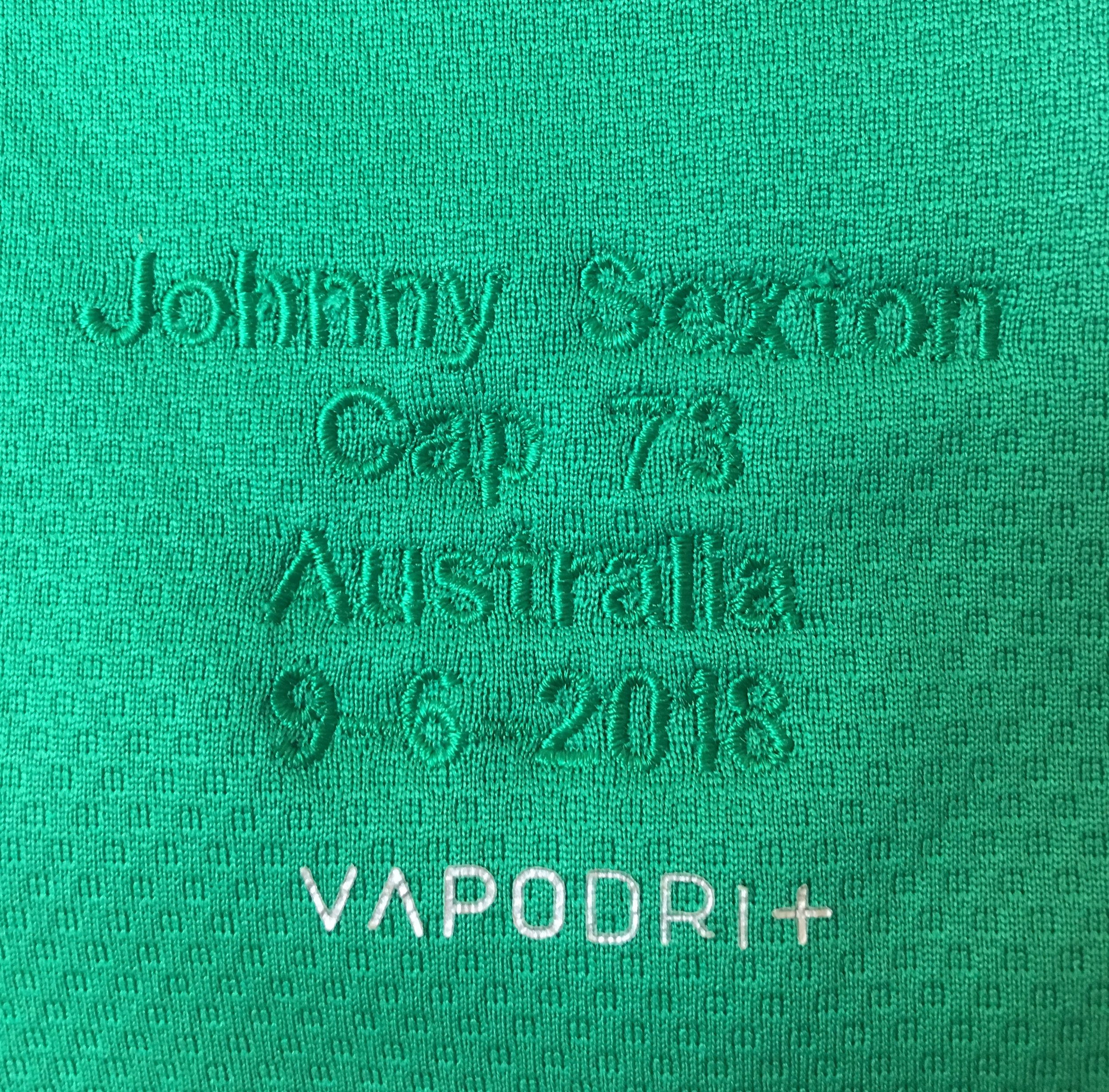 Johnny Sexton, official test day match jersey, vs. Australia, June 2018