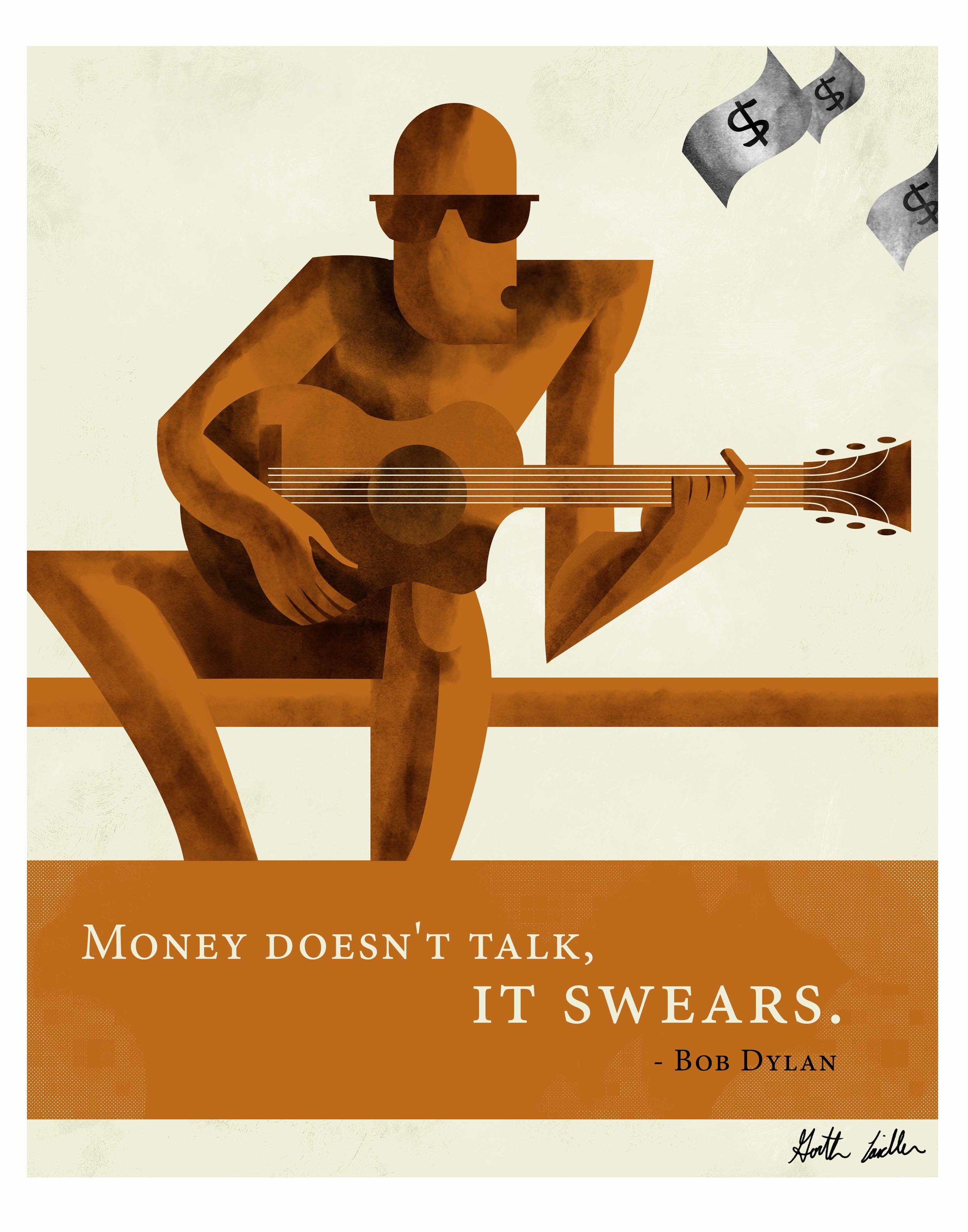 Quote Illustration - Bob Dylan
