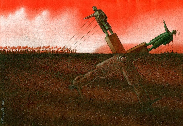 "Pawel Kuczynski's artwork named ""Loop"", print available  here ."