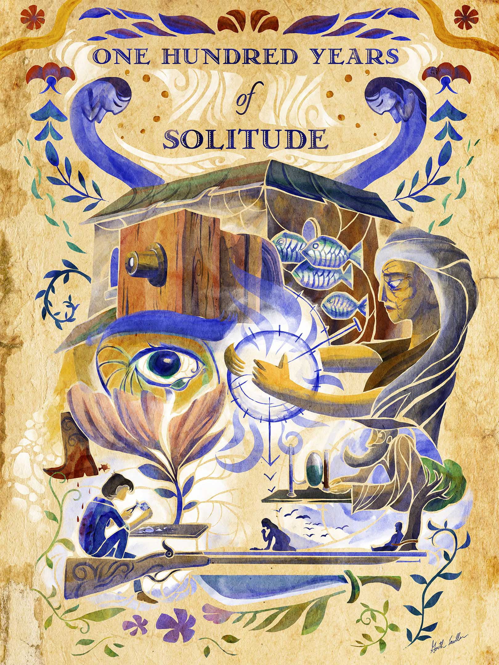 100 Years of Solitude Poster Art