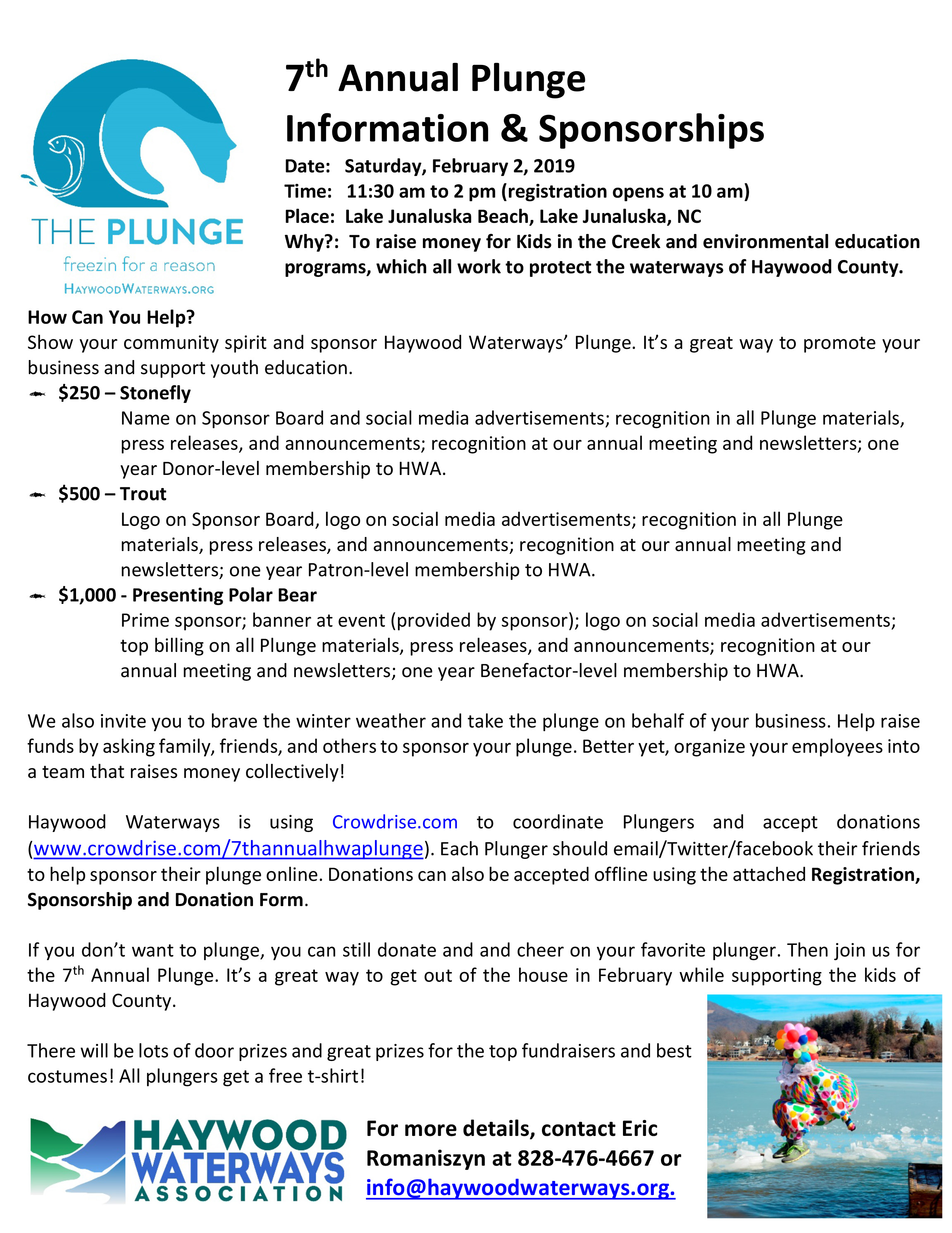 Microsoft Word - The Plunge 2019 Sponsorship, Donation, and Regi