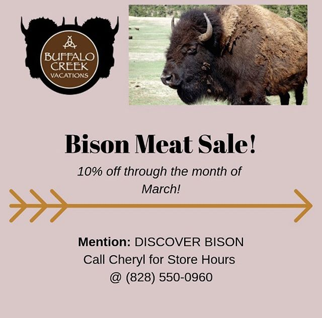 Happy Friday #Hayco! We have a few Buffalo Creek Vacation announcements we want to share with you! Swipe/Scroll to see further details! • Bison Meat Sale // 10% off through the month of March! Mention: DISCOVER BISON Call Cheryl for store hours @ (828)550-0960 • Book your next birthday party at the BC Party Caboose! 5% when you mention Discover Haywood! • Smoky Mountain Model Railroaders Open House Sunday, March 24th from 1-4pm $5/person 13 Caboose Way, Clyde. See you there! - • • • #wearehaywood #dailyhaywood #lifeinthesmokies #localsof828 #haywoodcounty #haynow #hayco #supportlocalbusiness #yourconnectiontoourarea #augmentedreality #engagedandenergized #828isgreat #themoreyouknow #discoverthis #discoverthat #discoverhaywood