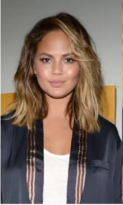 I showed the stylist this pic as inspo for my new hair-do. ICYMI: It did not look like this and I am not Chrissy Teigen.